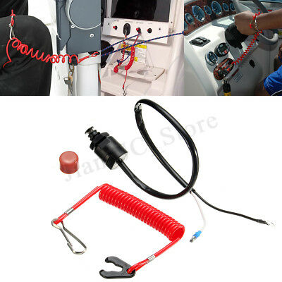 AU13.95 • Buy For Yamaha Outboard Cut Off Boat Motor Kill Stop Switch Safety Tether Lanyard AU