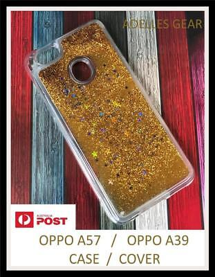 AU4.45 • Buy For OPPO A57 AND OPPO A39 Liquid Sparkle Glitter Bling Case Cover - GOLD BLING