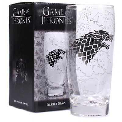 £12.13 • Buy Game Of Thrones King In The North Pilsner Beer Glass