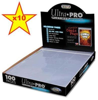 £4.58 • Buy 10 X Ultra Pro 1 Pocket Comic Book Sleeves Pages With Resealable Flap