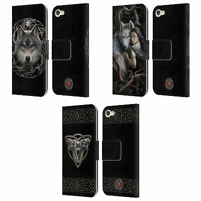 OFFICIAL ANNE STOKES WOLVES 2 LEATHER BOOK WALLET CASE FOR APPLE IPOD TOUCH MP3 • 16.95£