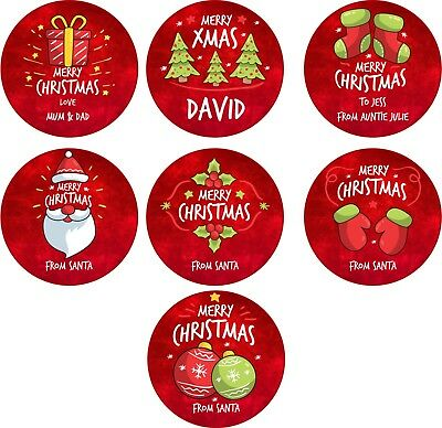 £2.43 • Buy Personalised Christmas Xmas Stickers Santa Presents Labels Gifts Red Gift GLOSS