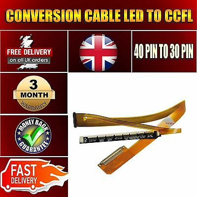£4.90 • Buy LED To LCD CCFL Backlight Screen 15.6  Converter Cable 40pin To 30pin 9 Sockets