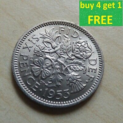 Elizabeth II Sixpence 6D Coins Choose Your Date 1953 - 1970 • 0.99£