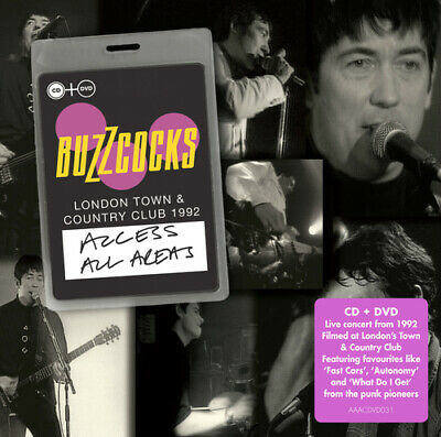 £6.17 • Buy Buzzcocks : Access All Areas: London Town & Country Club 1992 CD Album With DVD