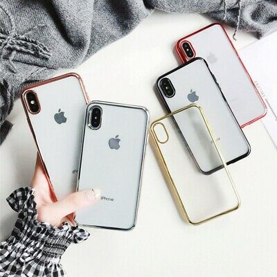 AU7.85 • Buy IPhone XS Max XR X Ultra Clear Slim Gel Cover Electroplate Bumper Case For Apple