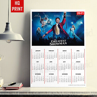 2020 Wall Planner The Greatest Showman Year Planner | A4 A3 A2 A1 | • 2.99£