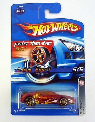 $ CDN11.88 • Buy HOT WHEELS LOTUS ESPRIT #080 Spy Force 5/5 Die-Cast Car MOC COMPLETE 2006