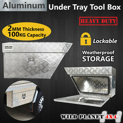 AU185 • Buy Pair Of Aluminium Under Tray Ute Tool Boxes Heavy Duty Vehicle Chest Storage W L