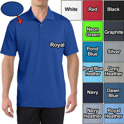 3cfbb2f1 Men's Polo Shirt Moisture Wicking Dri Fit Micro Mesh XS - XL 2XL, 3XL,