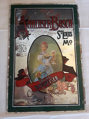 $ CDN87.66 • Buy Old Vtg Collectible Anheuser Busch Glass Mirrored Bar Sign Advertising Imperfect