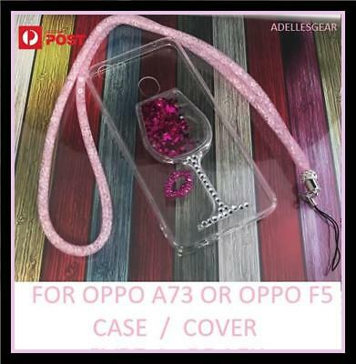 AU5.95 • Buy Glitter Bling Liquid Soft  Tpu Case Cover For Oppo A73 Oppo F5  -wine Glass Pink