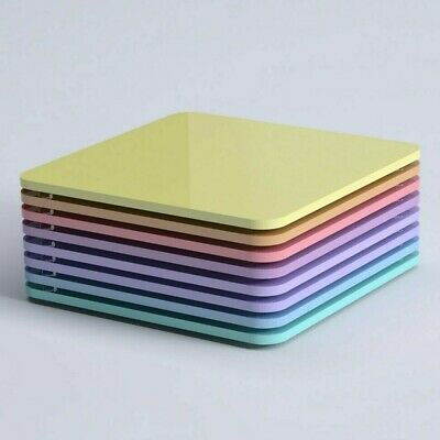 Square Coasters - 87 Colours - Kitchen - Dining - Table - Mix & Match - Acrylic • 1.70£
