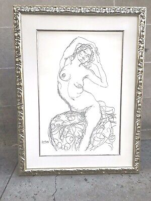 $ CDN1002.56 • Buy Large Rare Klimt Numbered Lithograph Of Nude Woman 23/888