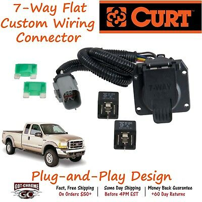 55243 curt 7-way rv trailer wiring connector harness fits ford super duty •  61 00