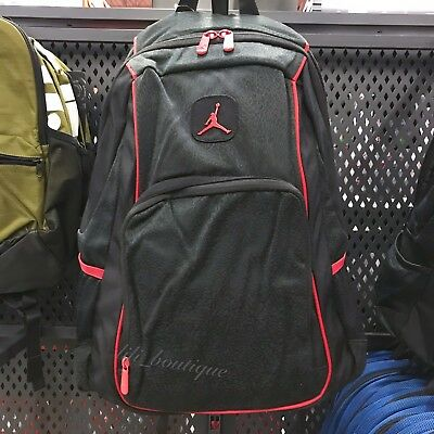d7744f0dc1a0 NWT Nike Jordan 9A1456-KR5 Classic Student School Book Laptop Backpack Black  Red • 39.95