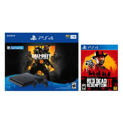 PlayStation 4 Slim 1TB Console Call Of Duty: Black Ops 4 + Red Dead Redemption 2