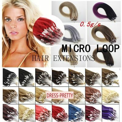 £18.33 • Buy  Easy Loop Micro Ring Bead Tip Ombre  Indian Remy Human Hair Extensions 100/200S