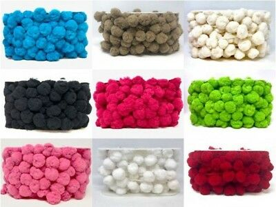 Jumbo Pom Pom Trim 35mm 10 Colours Great Quality  • 6.16£