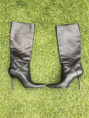 Gucci Leather Black Boots Womens 38:5 Uk • 60£