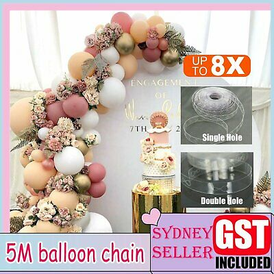 AU4.19 • Buy 5M Balloon Decorate Strip Arch Garland Connect Chain DIY Tape Party Bar Decor AU