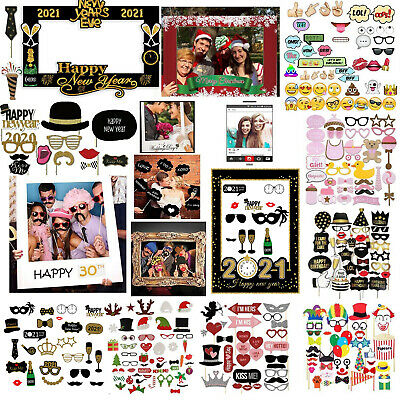 £4.49 • Buy Photo Booth Party Props Wedding Christmas Birthday Selfie Party Paper Supplies