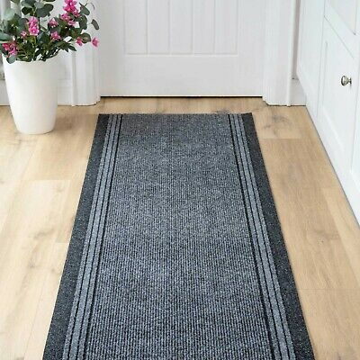 Grey Non Slip Mat Cut To Any Length Per Foot Custom Extra Long Runner Rug • 12.50£