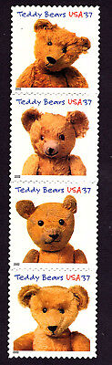 3653-56 Teddy Bears Strip Of 4 (CORRECT ORDER Nice Clear Perf's)  MNH • 2.51£