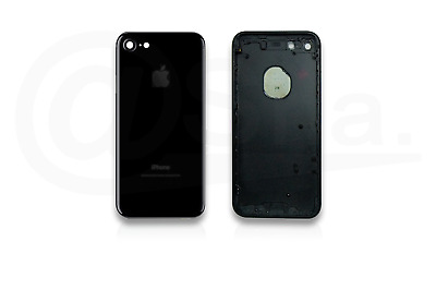 JET BLACK - Metal Chassis Rear Replacement Housing Back Cover For IPhone 7 UK • 17.99£