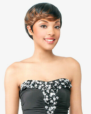 $12.99 • Buy Abelle JARDIN Synthetic Short Straight Bumped Feather Hair Wig