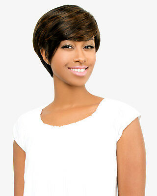 $12.99 • Buy Abelle JENNER Synthetic Short Straight Bumped Feather Hair Wig