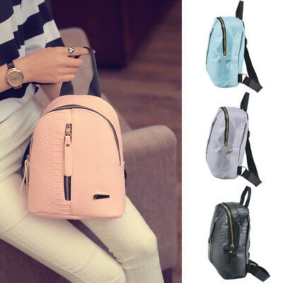 Women Mini Backpack PU Leather Shoulder School Rucksack Ladies Girls Travel Bags • 5.59£