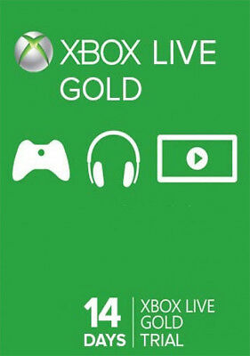 $4.56 • Buy Xbox Live Gold 14 Day Trial Membership Code, Only Work With XBOX ONE CONSOLES