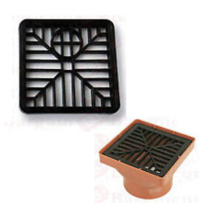 £2.69 • Buy GULLEY GRID DRAIN COVER LID BLACK PVC 6 INCH 150MM X 150MM SQUARE LEAF COVER