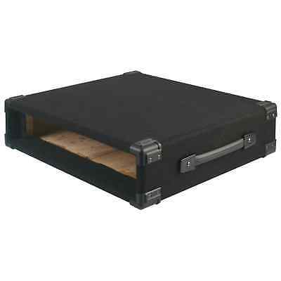 Pulse 19  2U Carpet Covered Rack Sleeve Wooden Case For Mixers & Amplifiers • 25.99£