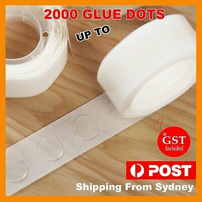 AU3.75 • Buy Up 2000x Balloon Glue Dots Photo Adhesive Bostik Party Double Tape Scrapbooking