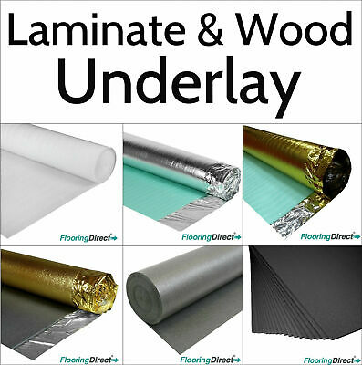 Wood / Laminate Flooring Underlay - Gold - Acoustic - Silver - XPS - 2mm - 5mm • 9.99£