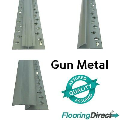 Gun Metal - Carpet Entrance Threshold - Flooring Strip - Door Bar Trim Metal • 6.99£