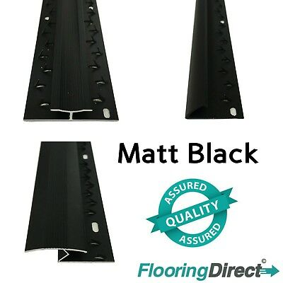 Matt Black - Carpet Entrance Threshold - Flooring Strip - Door Bar Trim Metal • 7.99£