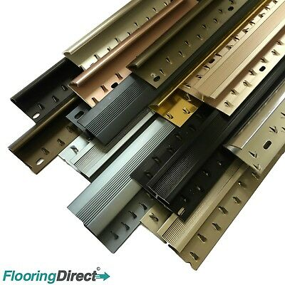 Coloured Carpet And Flooring Door Bar - Threshold - Metal Strips 900mm - 2700mm • 5.99£