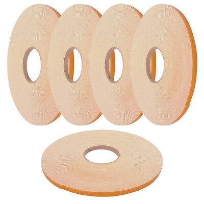 Double Sided Foam Tape - 5mm X 12m White - Glazing / Mounting / Craft Tape X 5 • 25.95£