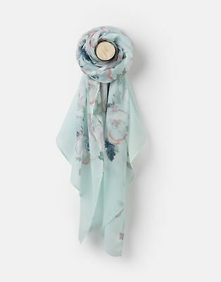 View Details Joules 204149 Longline Woven Scarf ONE In COOL BLUE POPPY In One Size • 9.95£