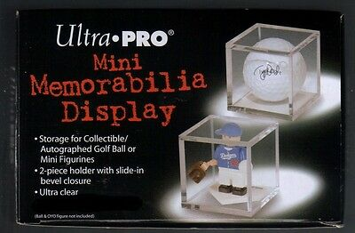 Ultra Pro Acrylic Golf Ball Or Mini Memorabilia Display Case / Cube Holder • 1.90£