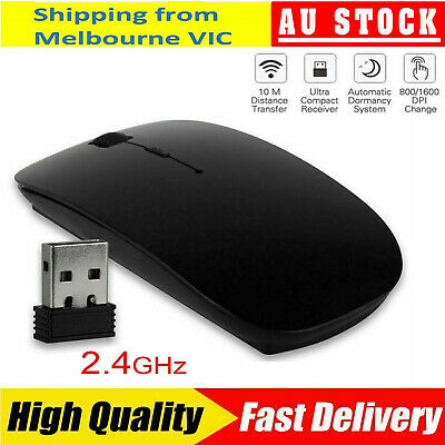 AU11.55 • Buy Wireless Optical Mouse For All Macbook Air Pro Win10/Mac Laptop Computer PC ASLR