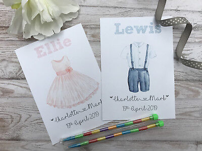 £1.49 • Buy Personalised Children's Wedding Activity Pack Bag Favour A6 Dress   Suit