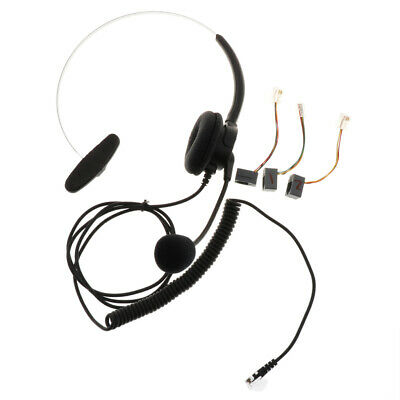 £6.67 • Buy Telephone Headset Noise Cancelling W/ Mic RJ9 Plug For Call Center Telephone