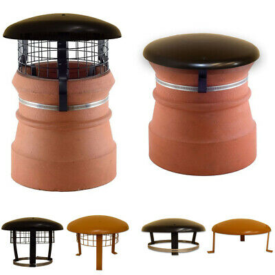 Chimney Pot Cowl / Cap & Mesh - Wood / Log Burner Stove Flue Topper Bird Guard • 37.95£
