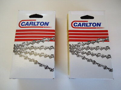 NEW 2 Pack Carlton Chainsaw Chain 28  3/8 .050 91 Links A1LM-091G MADE IN USA • 42.40£