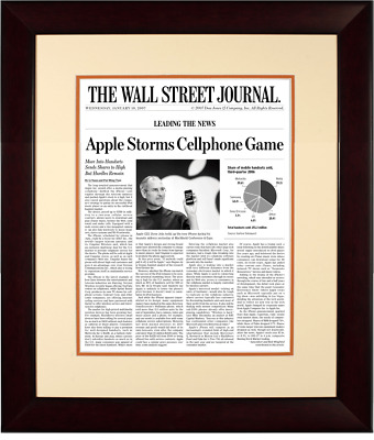 $230 • Buy First IPhone Launch | The Wall Street Journal, Framed Article Reprint, Jan. 10,