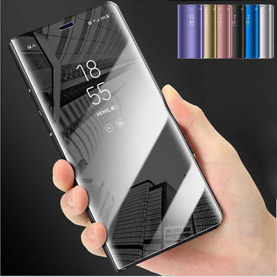 $ CDN5.58 • Buy For Samsung S9 S8 Plus Note 9 8 Smart View Mirror Leather Flip Stand Case Cover